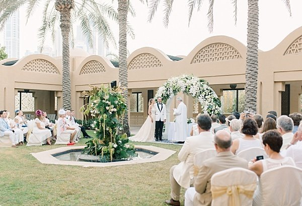 Outdoor Wedding Ceremony One and Only Royal Mirage Dubai 2