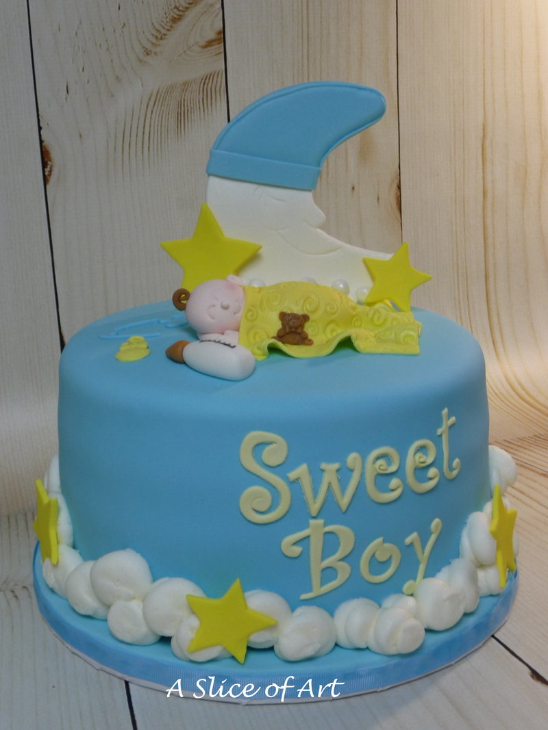 baby moon shower cake