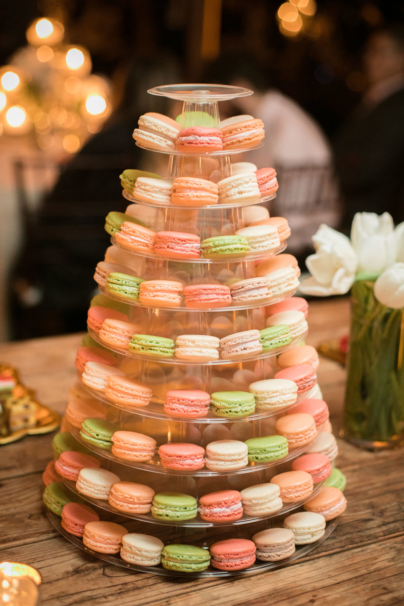 macaroon tower, wedding reception