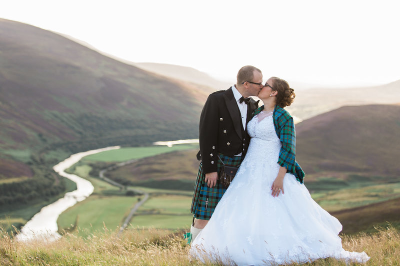 Bride and Groom Scotland Highlands Wedding