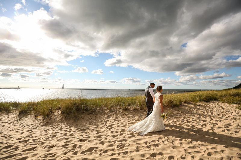 Lake Michigan Wedding