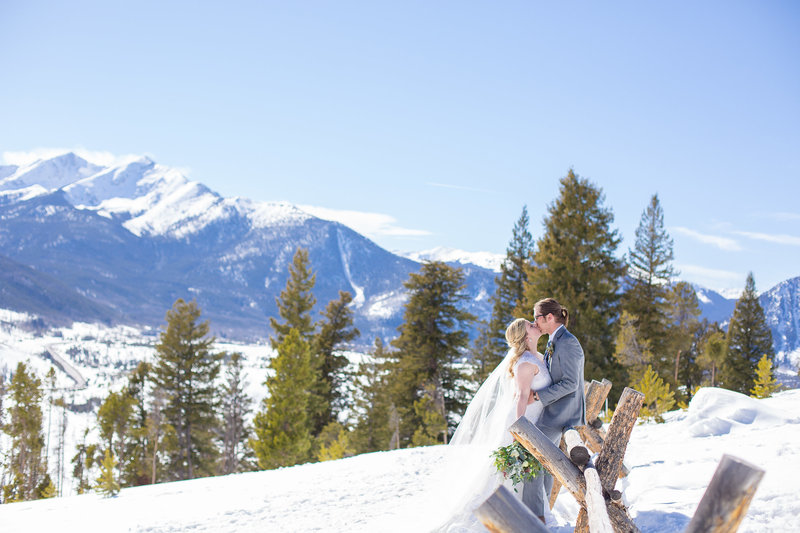 mountain winter wedding