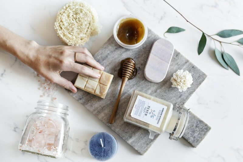 HAND REACHING FOR NATURAL PRODUCT