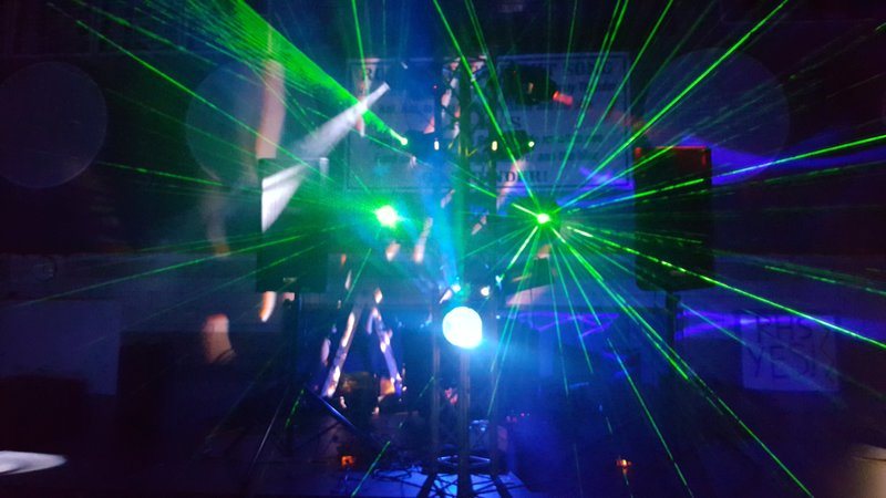 we love lasers at our dances