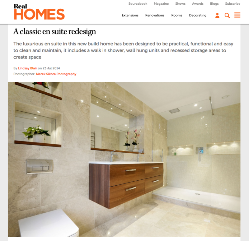 real homes magazine bathroom design london