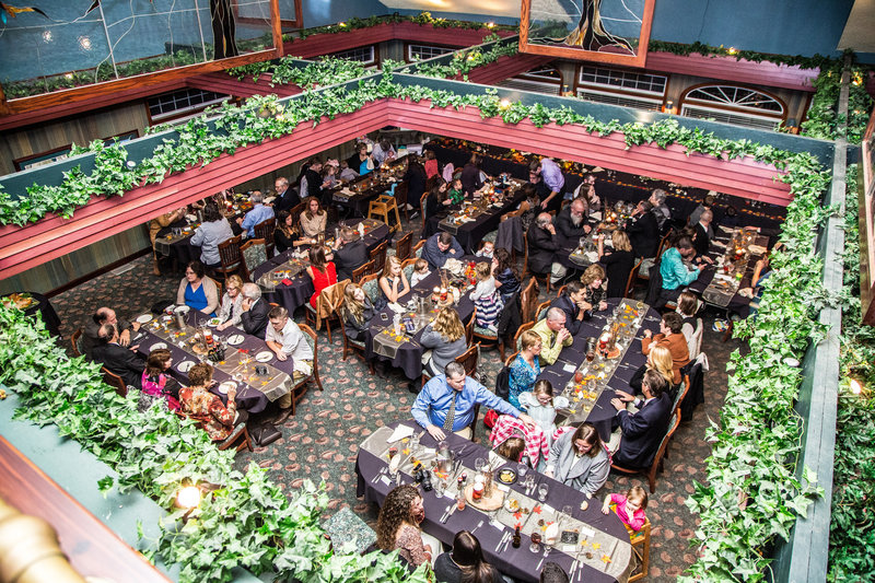 82 wedding photography reception from above