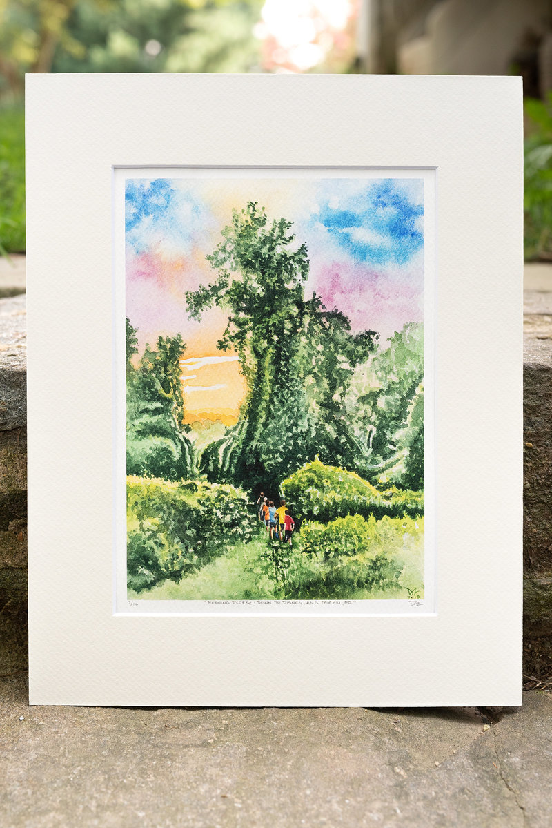2018-07 Morning Recess Watercolor Print web