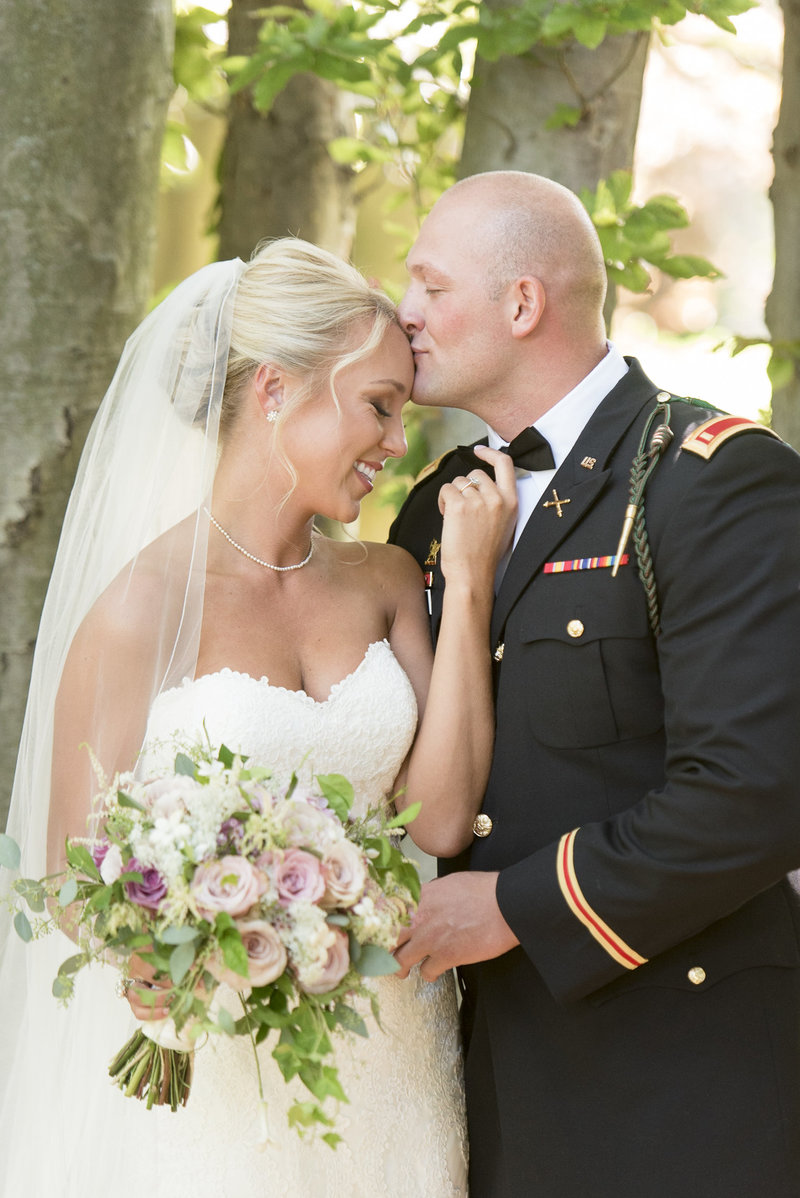 military beach wedding in sea bright