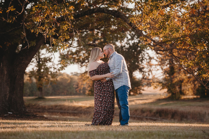 fall indiana engagement photos