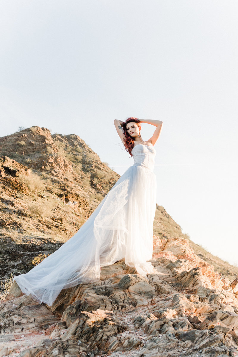 Atlas Rose Photography AZ - Adventure Couple And Bridal In The Phoenix Mountains 05