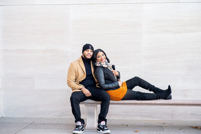 Winter Washington DC Engagement Session