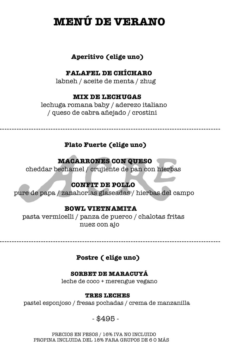 SUMMER MENU JUNIO 1x