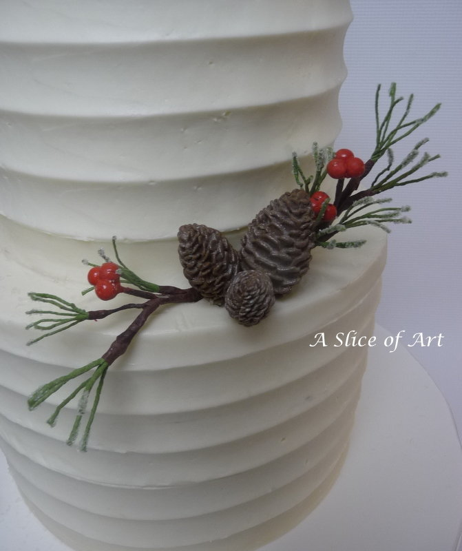 xmaspineconeweddingcake