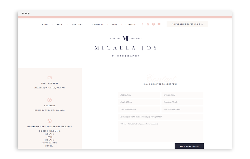 With Grace and Gold - Branding and Web Design for Creative Women in Business - Micaela Joy Photography - Photo - 6