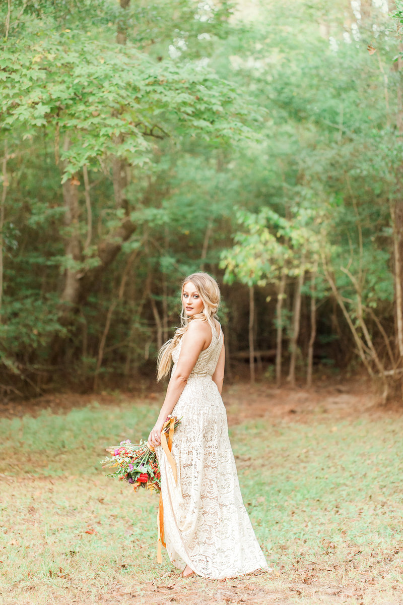 Bride in Texas Natural Light