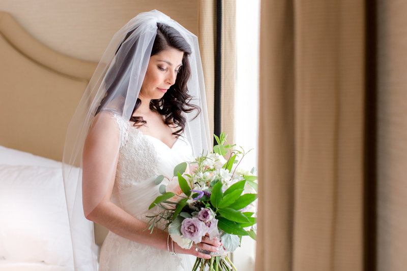 Classic bride portrait at Molly Pitcher Inn