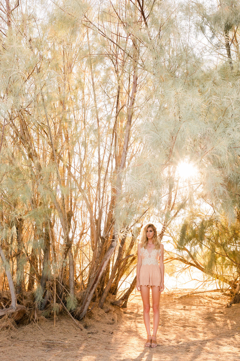 Joshua Tree Blonde Model Portrait | Clara Ann Photography | Joshua Tree Wedding Photographer