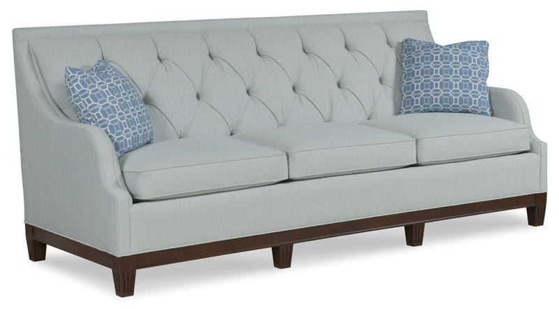 Upholstered living room sofa at Hockman Interiors