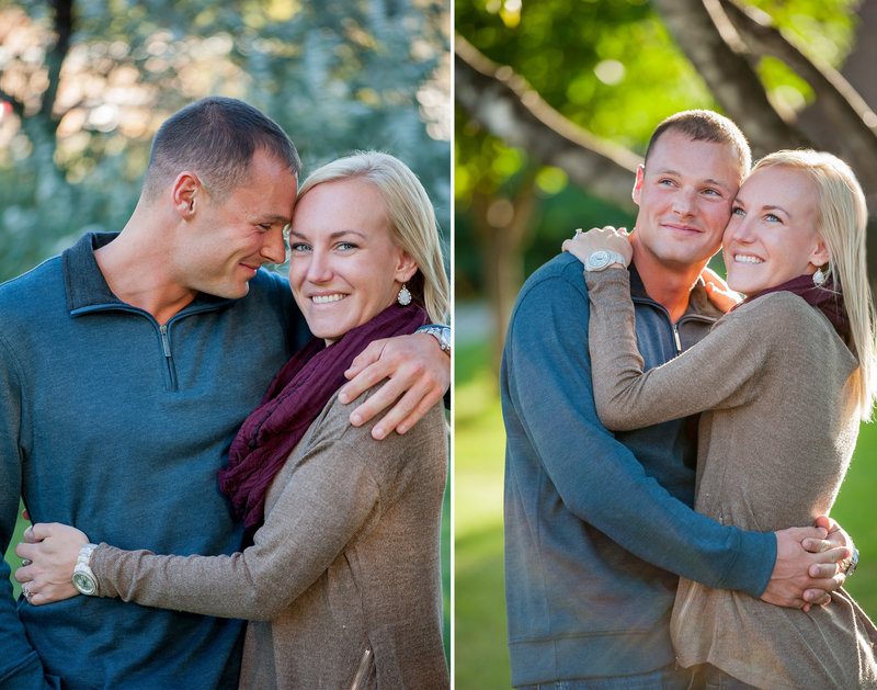 Grand Forks UND engagement portraits by Fargo photographer Kris Kandel