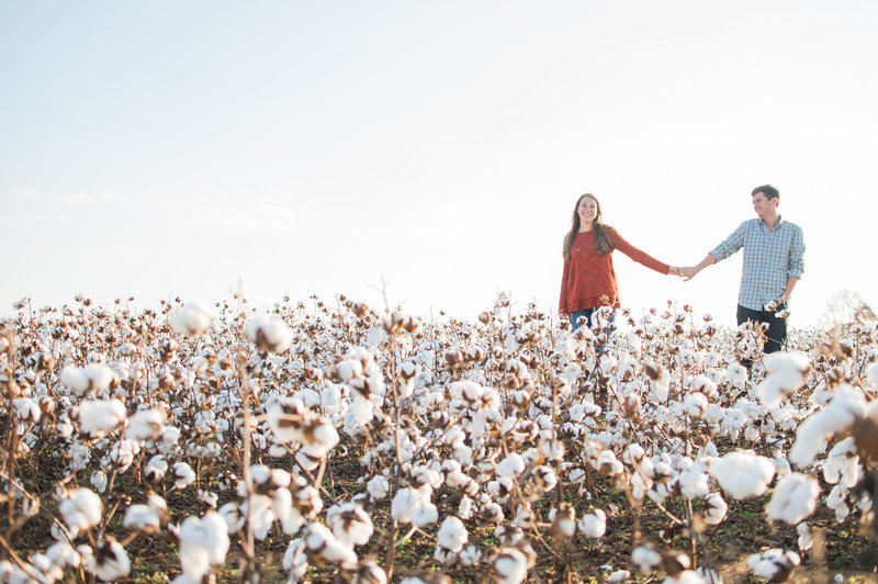Nashville Cotton Field Engagement Photography 1