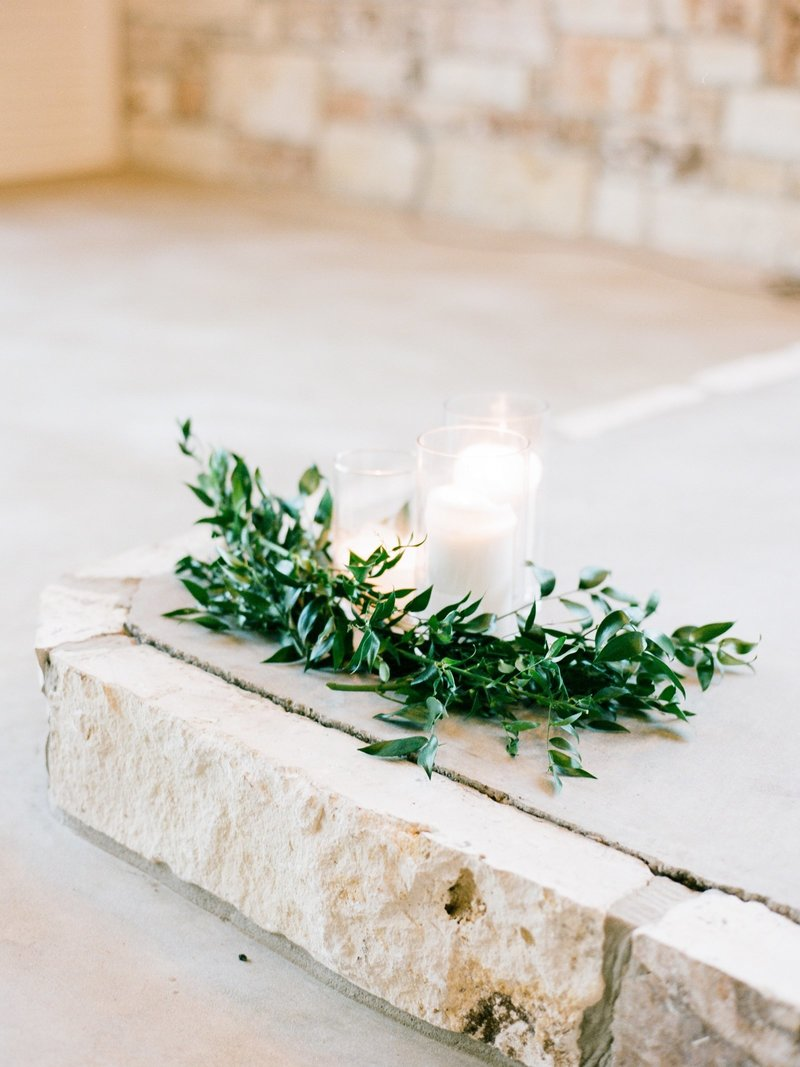 Candlelit ceremony decor