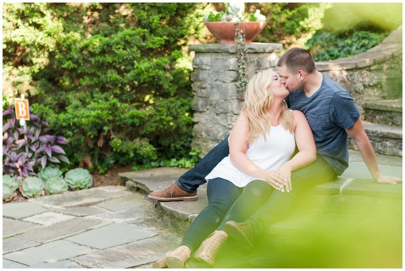 Mansfield Ohio Engagement Session Kingwood Garden Center_0025