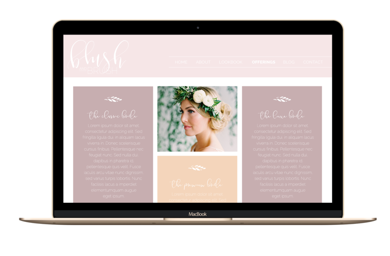 The Olivine Collective || Blush & Brush || Showit5 Website Template for Wedding Hair & Makeup Artist