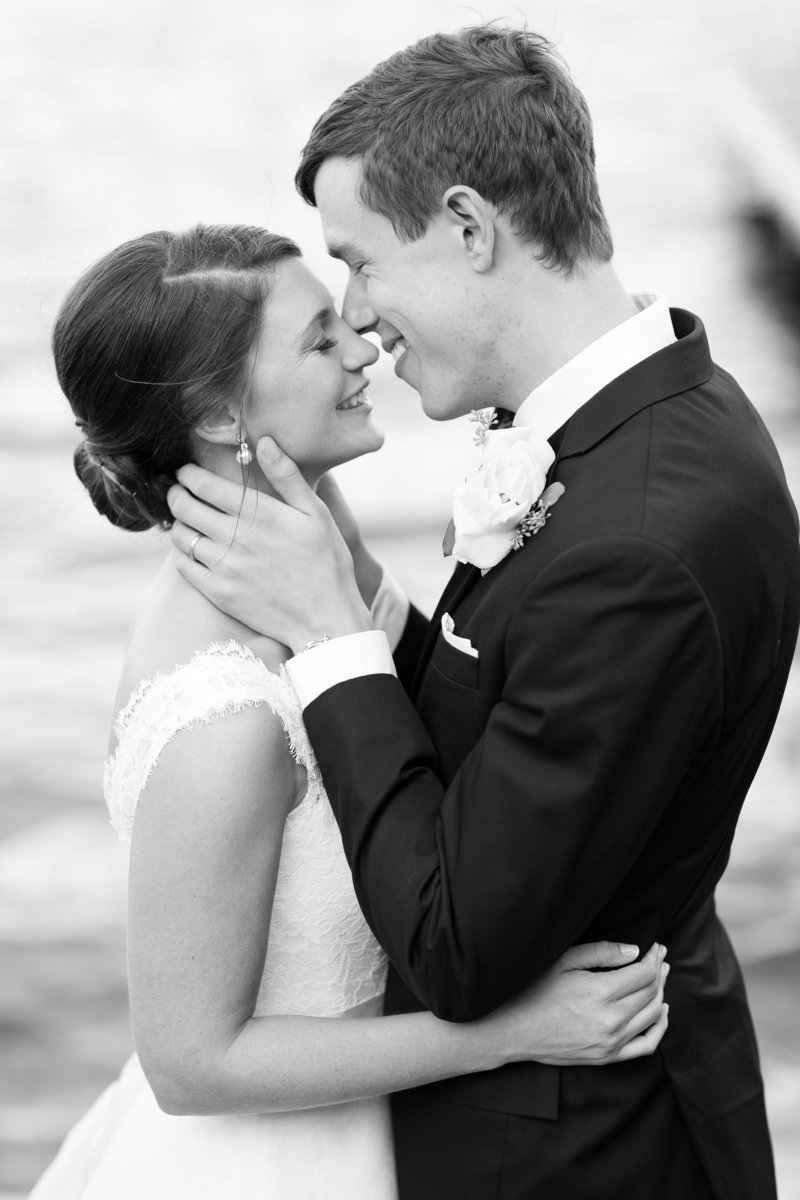 Black & White Bride Groom Portrait