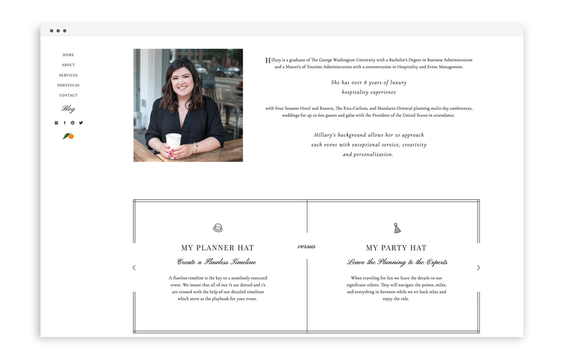 With Grace and Gold - Branding, Web Design, and Education for Creative Women in Business - Sweet Clementine Events - 4