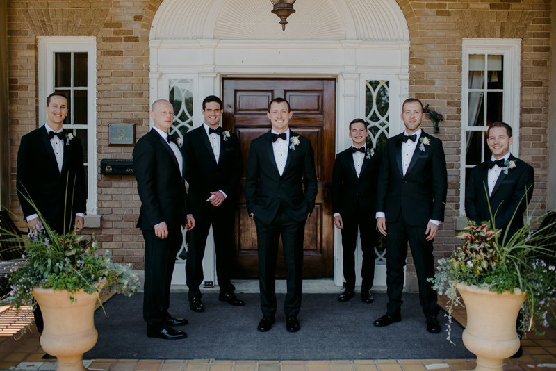 groomsmen at Felt Mansion