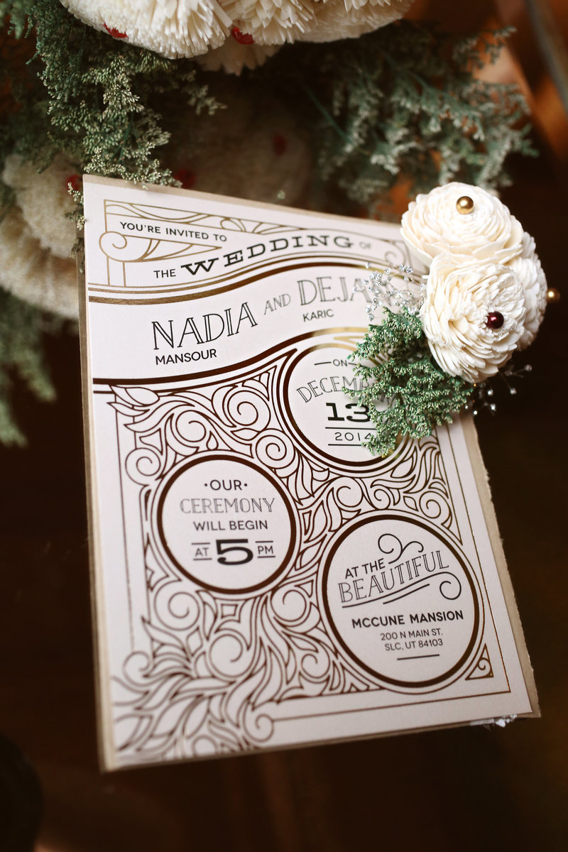 utah wedding invitation