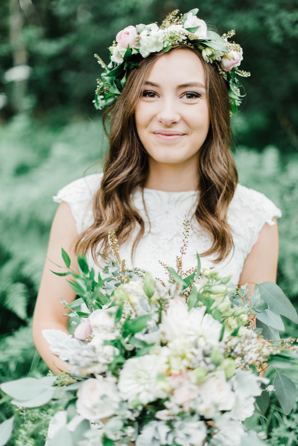 Floral Bridal Portraits Salt Lake City Utah