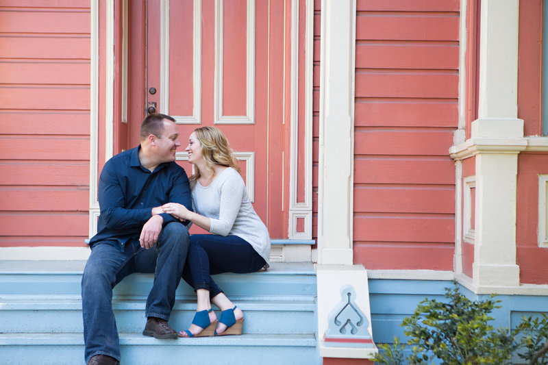 San Jose History Park, Engaged, Engagement Pictures, Victorian, Jennifer Baciocco Photography