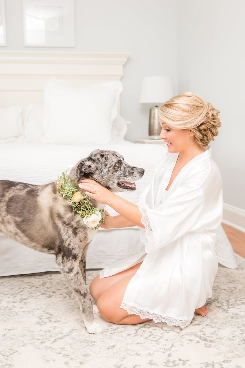 Park Chateau Estate bride with doggie