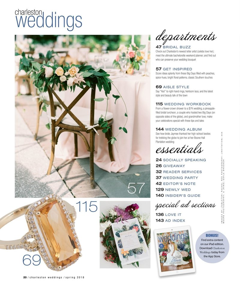 Charleston Weddings Magazine 1