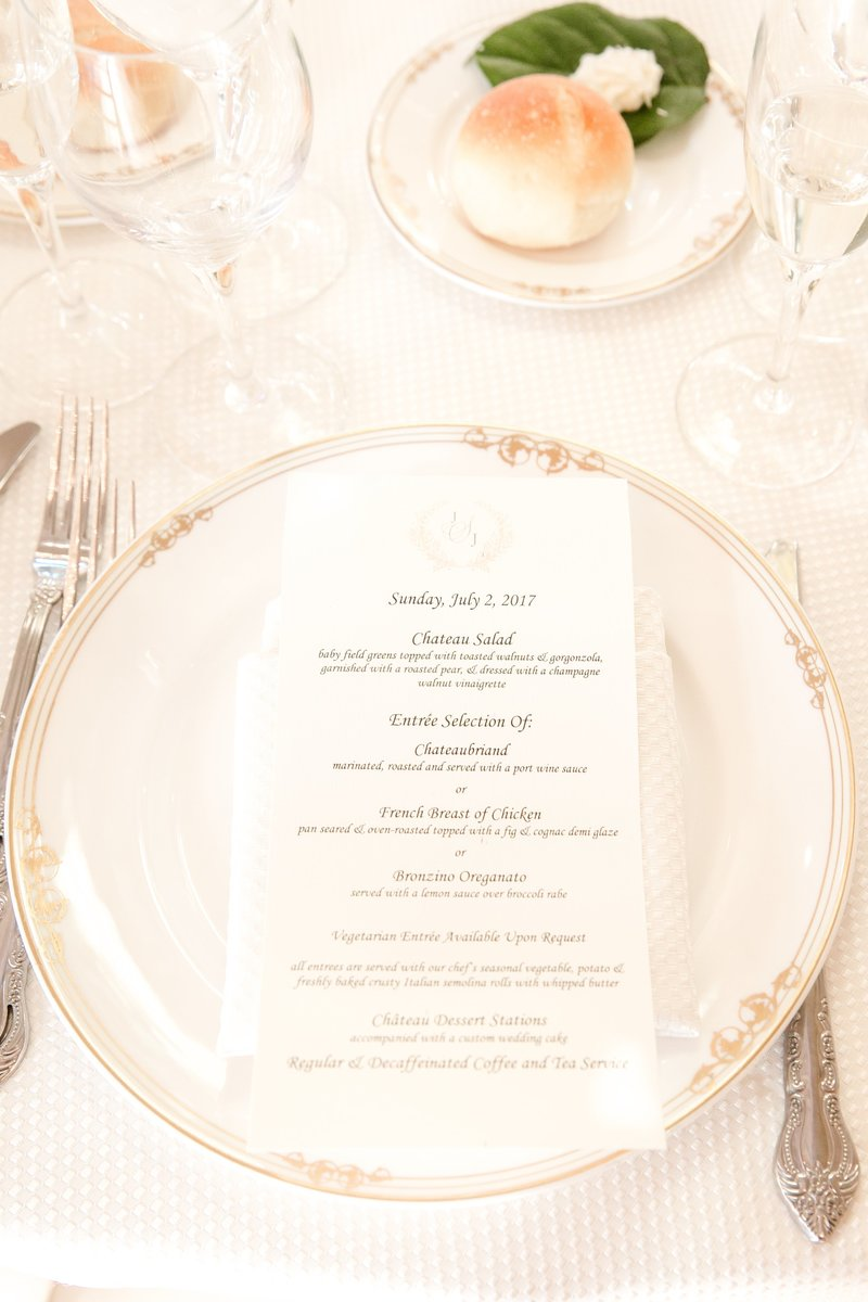 Park Chateau menu