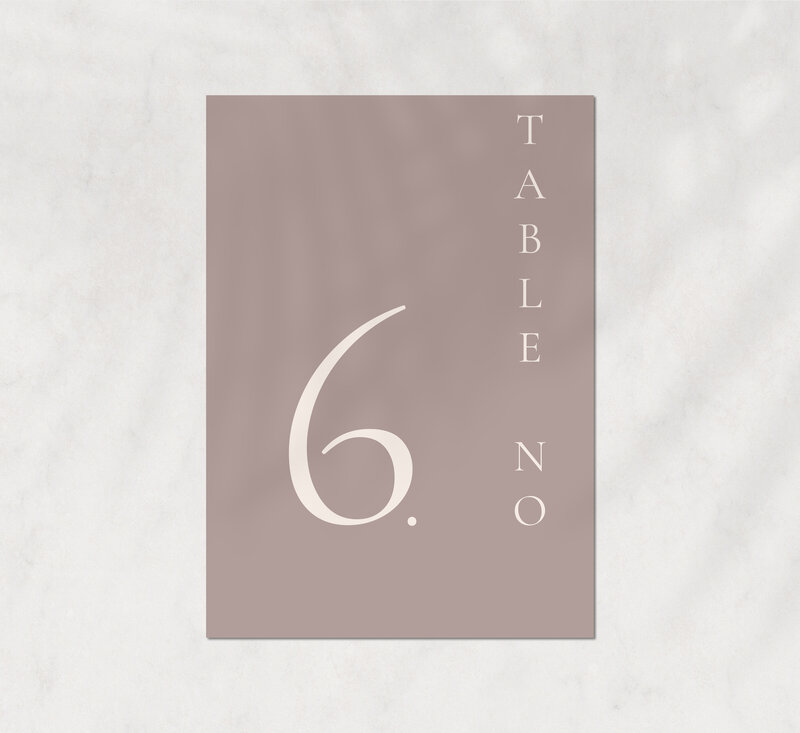 Tosha&Parker suite - table number