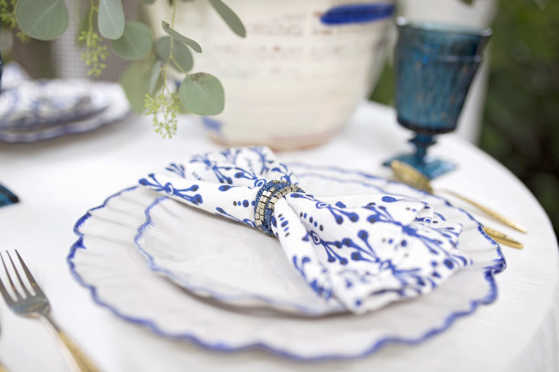Place setting for a Denver Wedding