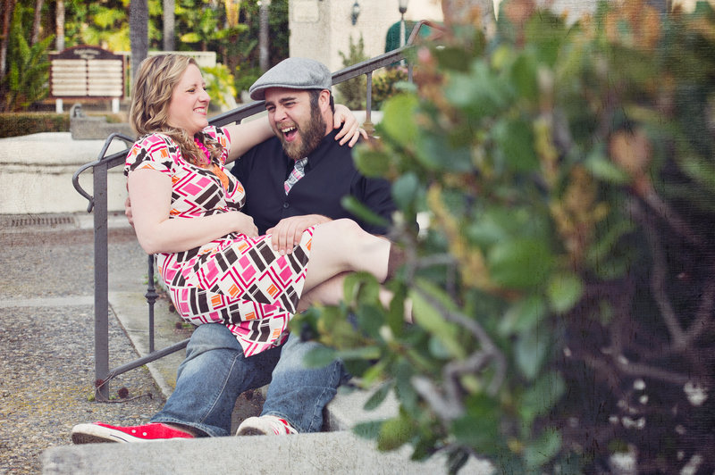 Kristin and Mark Palkoner of inGRACE photography laughing portrait