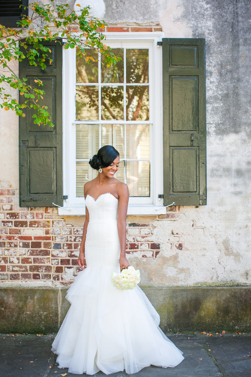 Downtown Charleston SC Bridal Portrait Photography