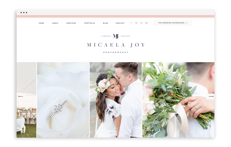 With Grace and Gold - Branding and Web Design for Creative Women in Business - Micaela Joy Photography - Photo - 4