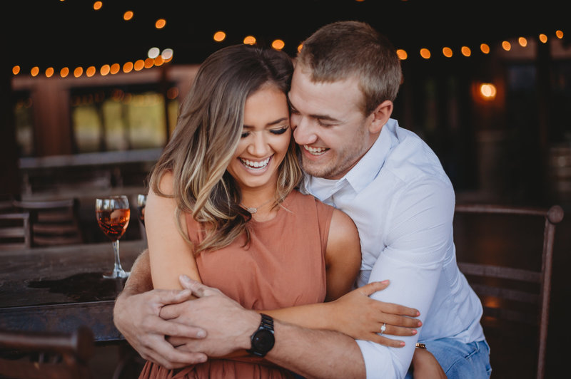 Winery engagement wedding