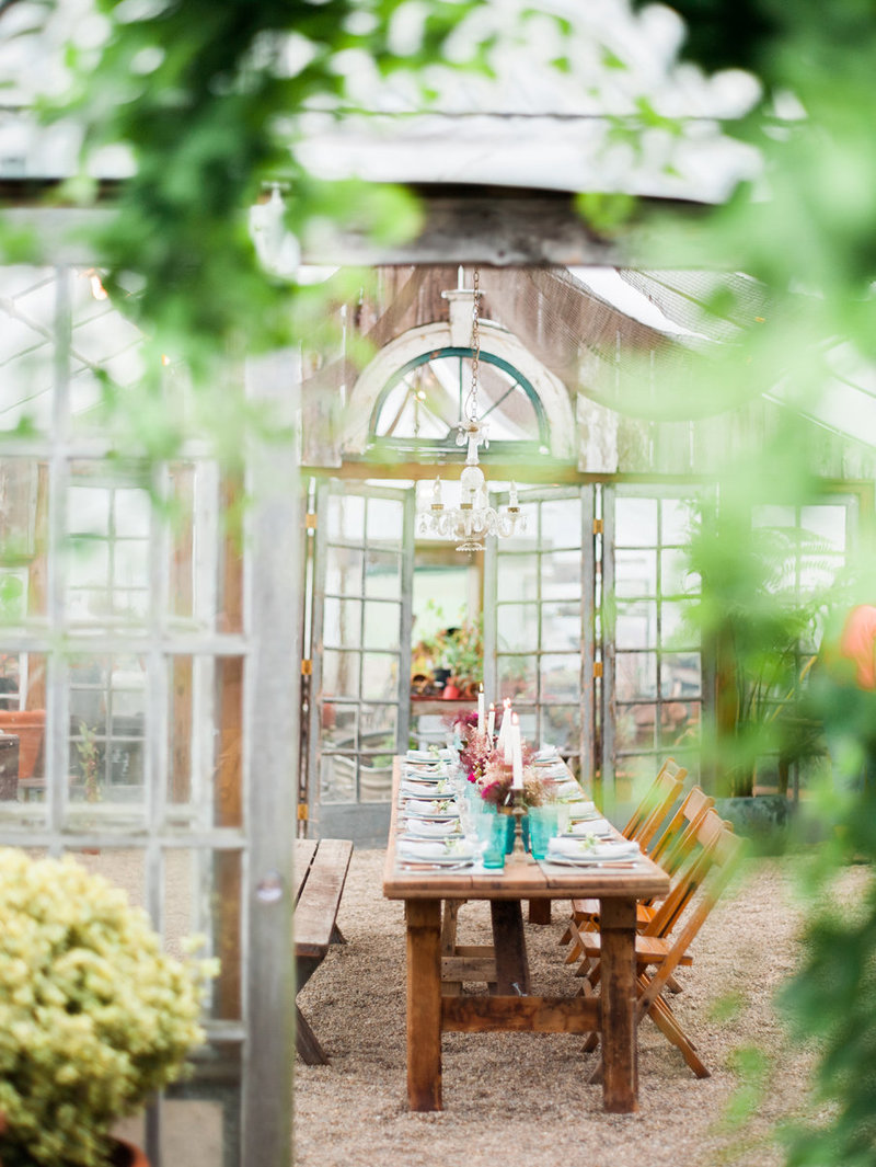 Green House Wedding Tablescape