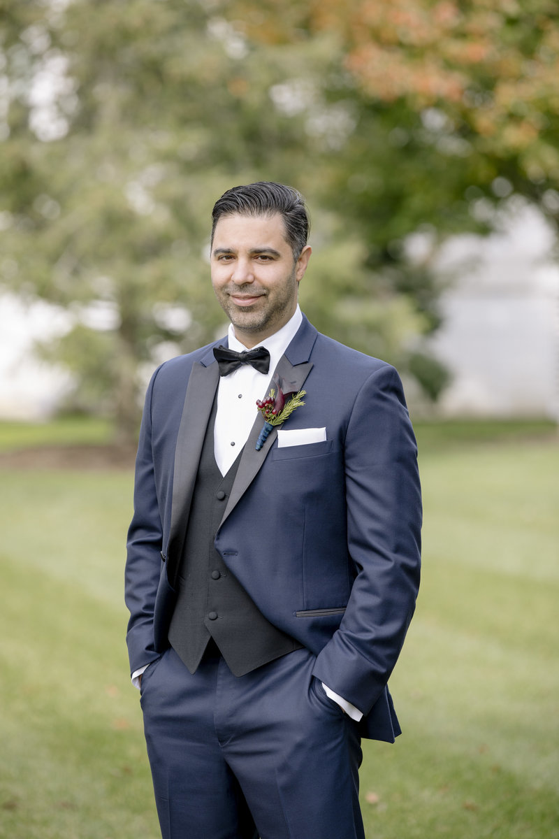 groom portrait at Monmouth University