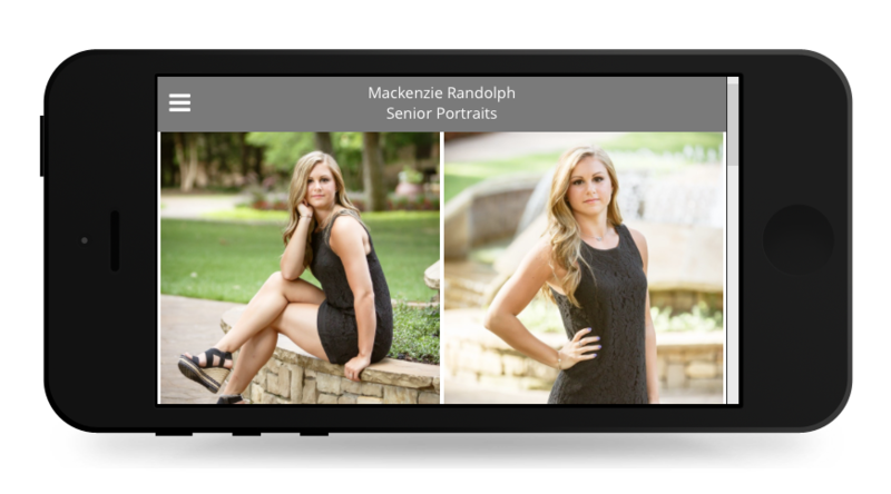 Digital Brag Book sample available with all family portrait packages.