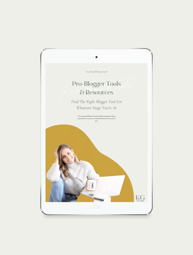 Pro Blogger Tools + Resources - SHOP Image 1