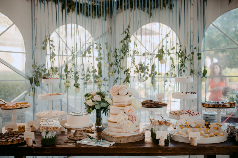 Dessert table at Felt Mansion