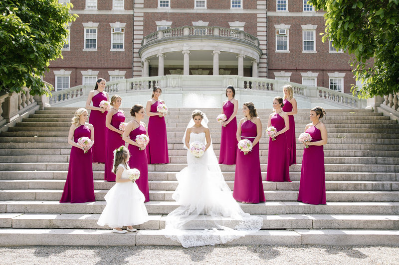 bridesmaids at fairleigh dickinson university in fuscha