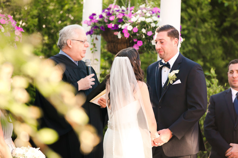 Emotional groom at South Gate Manor Wedding