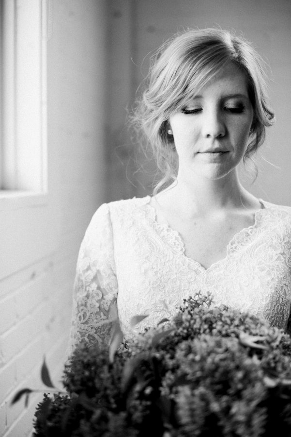 Black White Editorial Bridal Portraits Salt Lake City